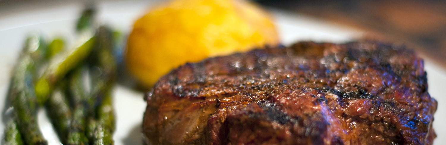 Steak on Grill Image